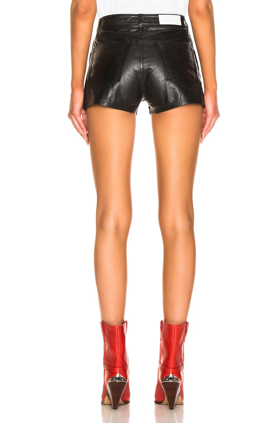 Image 3 of RE/DONE Leather Short in Black