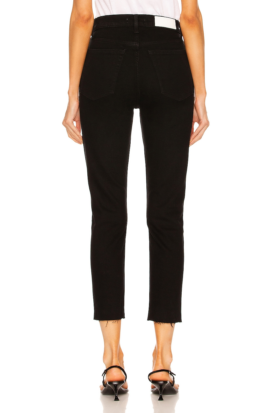 Image 3 of RE/DONE ORIGINALS High Rise Ankle Crop in Black