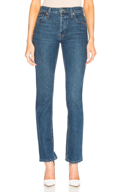 Image 1 of RE/DONE ORIGINALS Cindy Crawford High Rise Stretch Jean in Dark