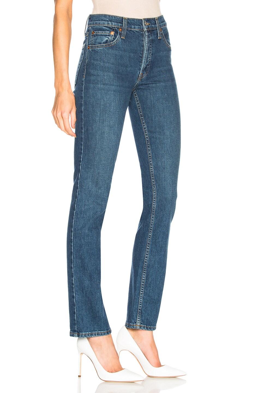 Image 2 of RE/DONE ORIGINALS Cindy Crawford High Rise Stretch Jean in Dark