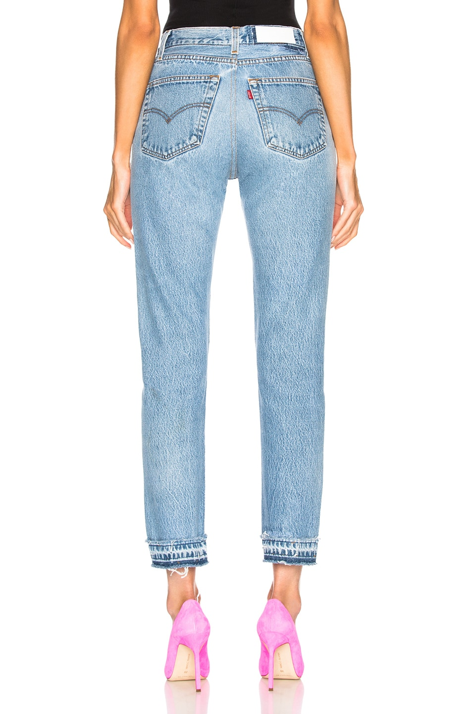 Image 3 of RE/DONE LEVI'S Released Hem High Rise Ankle in Indigo