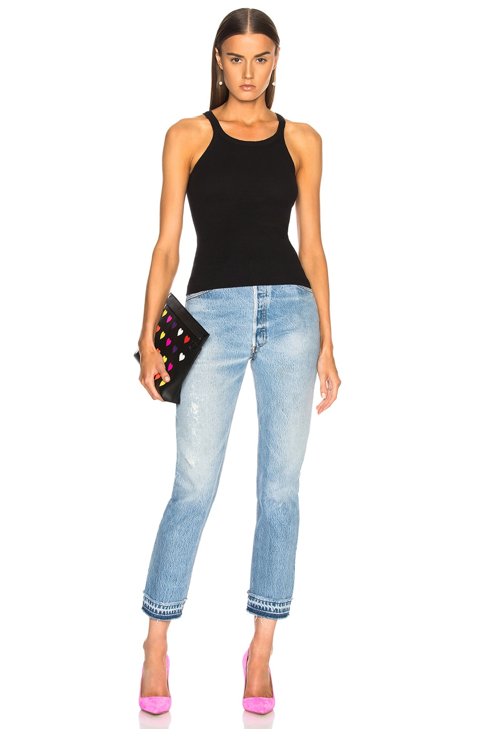 Image 4 of RE/DONE LEVI'S Released Hem High Rise Ankle in Indigo