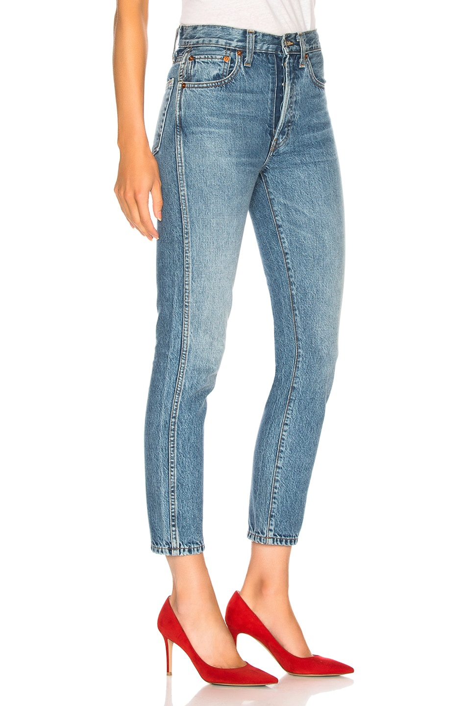 Image 2 of RE/DONE Double Needle Crop Jean in Trucker Wash
