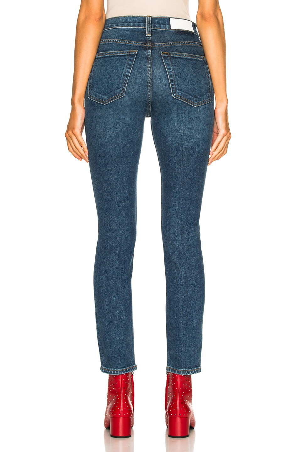 Image 3 of RE/DONE High Rise Ankle Crop Jean in Mid 70's