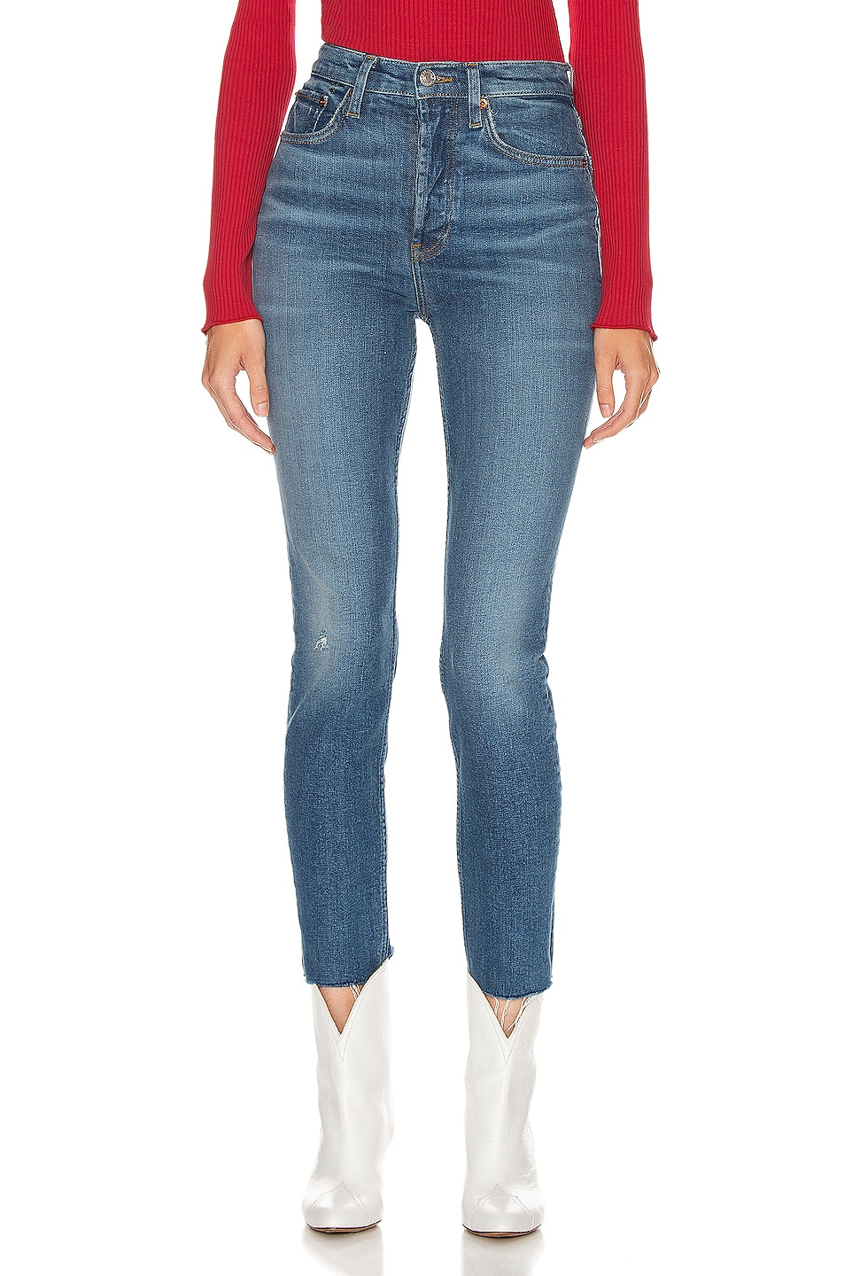 Re/done Jeans High Rise Ankle Crop