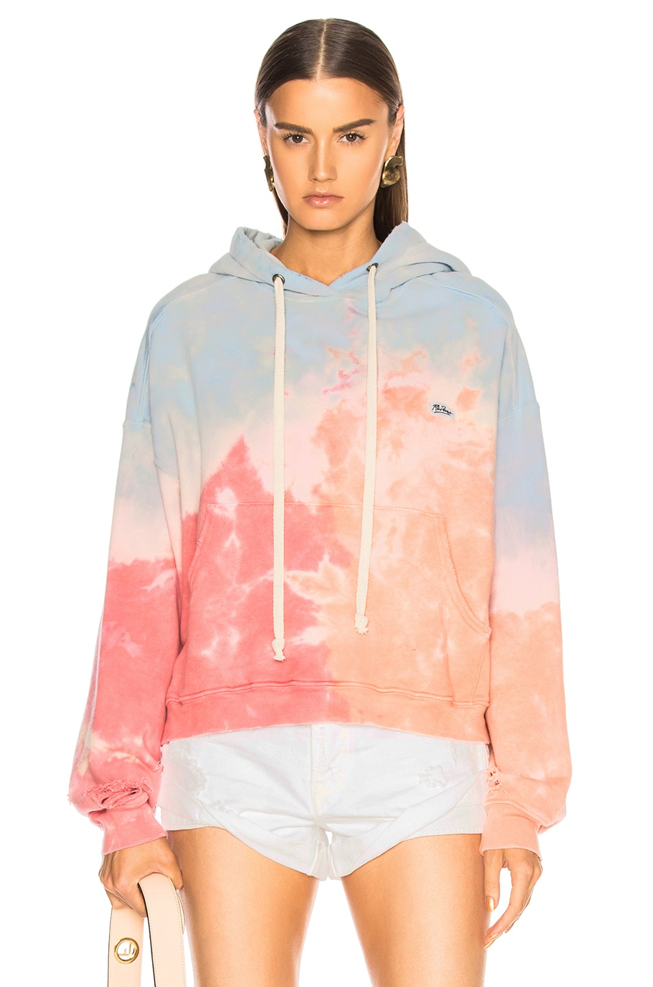 Image 1 of RE/DONE ORIGINALS Oversize Logo Hoodie in Ocean Dye