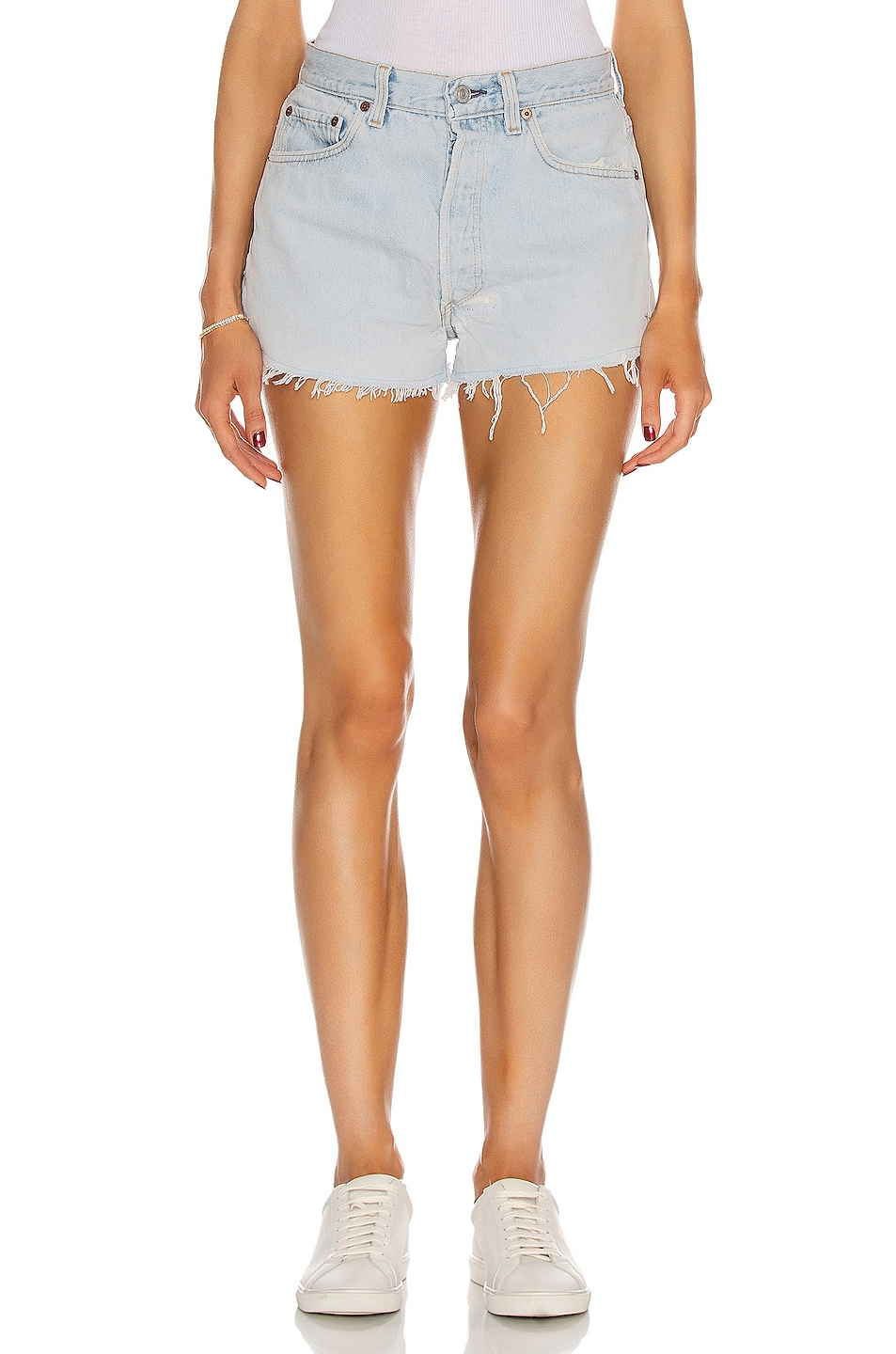Clean Denim Cut Off Shorts Denim 2 in Blue from Antonioli