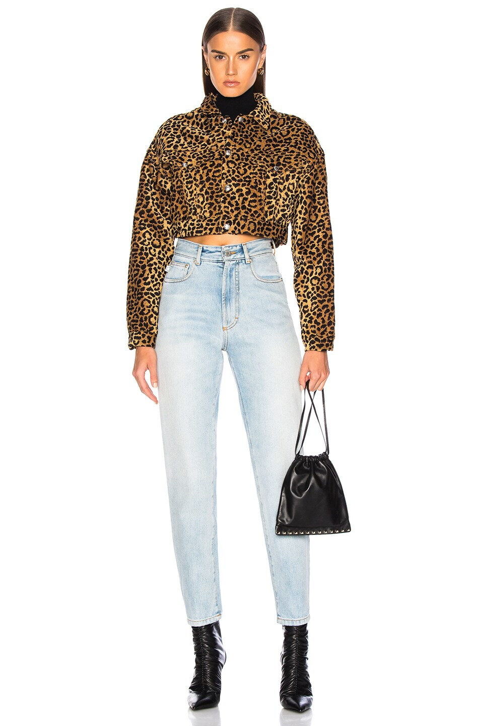 5b433babe86d Image 5 of RE/DONE ORIGINALS Leopard Cropped Jacket in Leopard