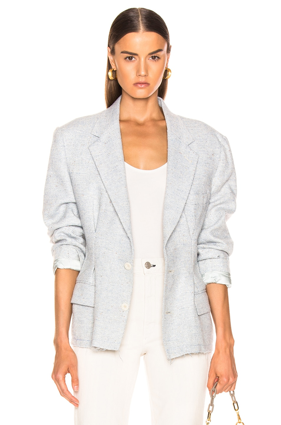 Image 1 of RE/DONE Reconstructed Wool Blazer in Assorted Check