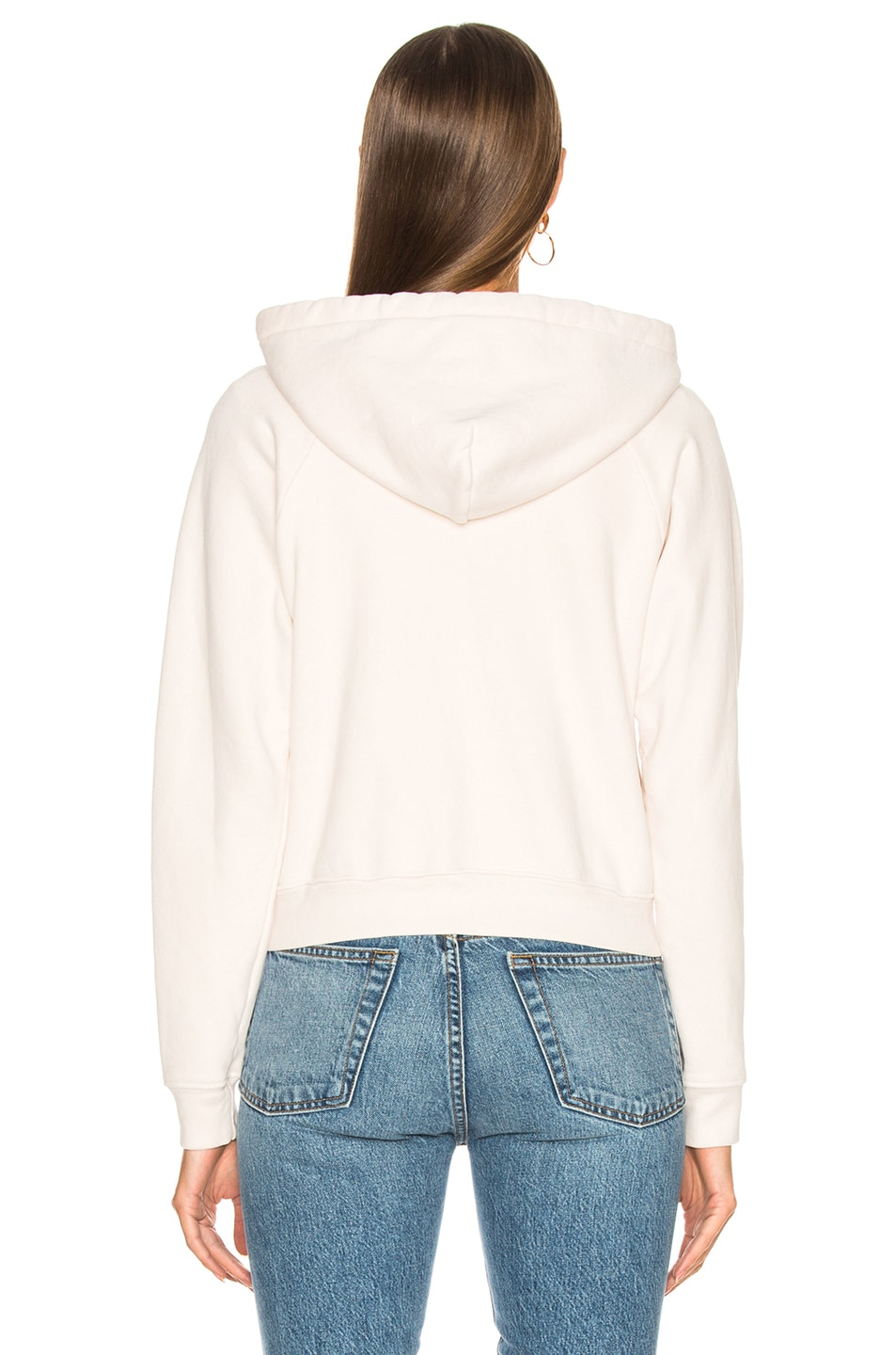 Image 5 of RE/DONE Chain Stitch Zip Hoodie in Vintage White