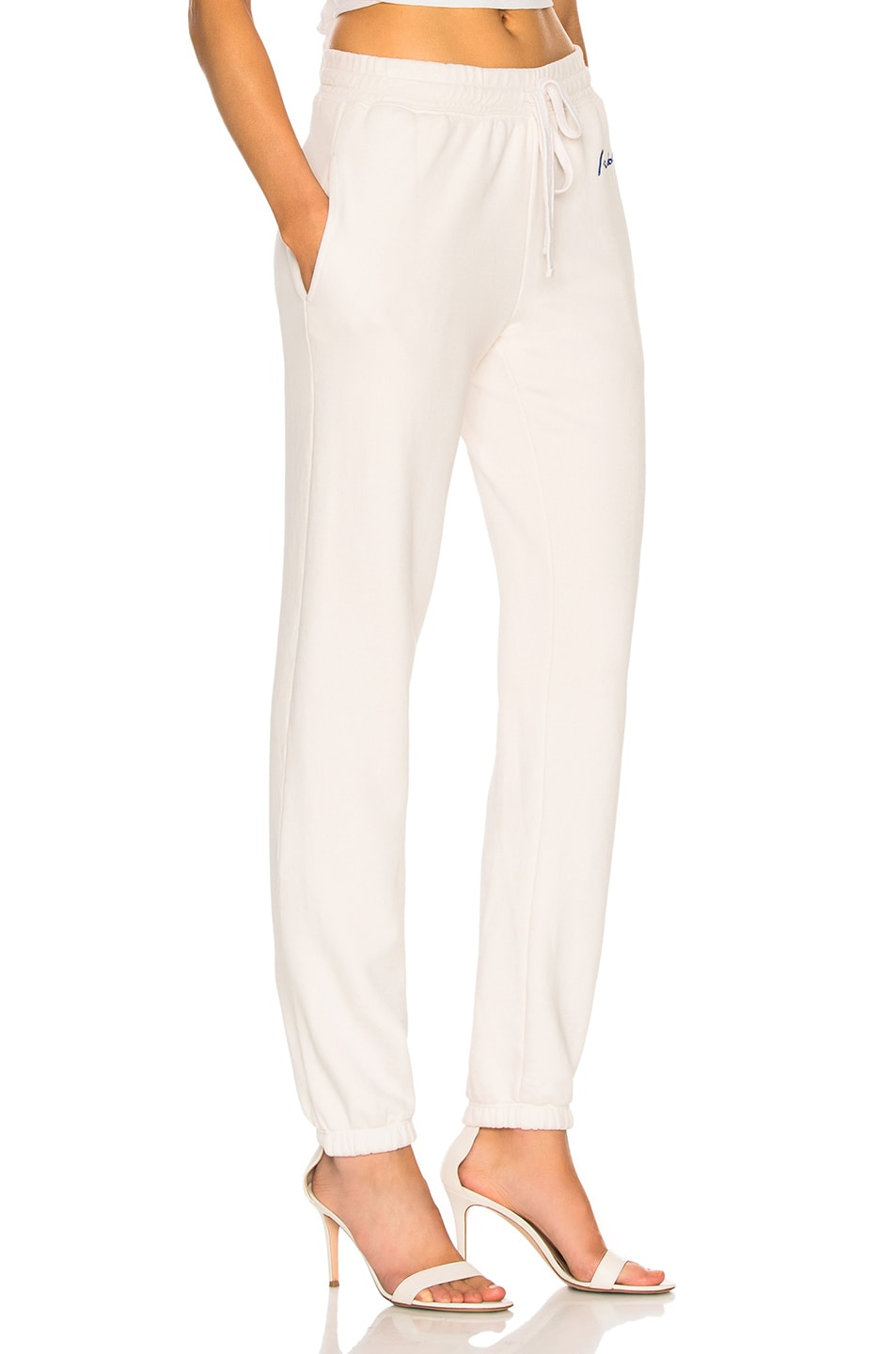 Image 2 of RE/DONE Chain Stitch Sweatpants in Vintage White