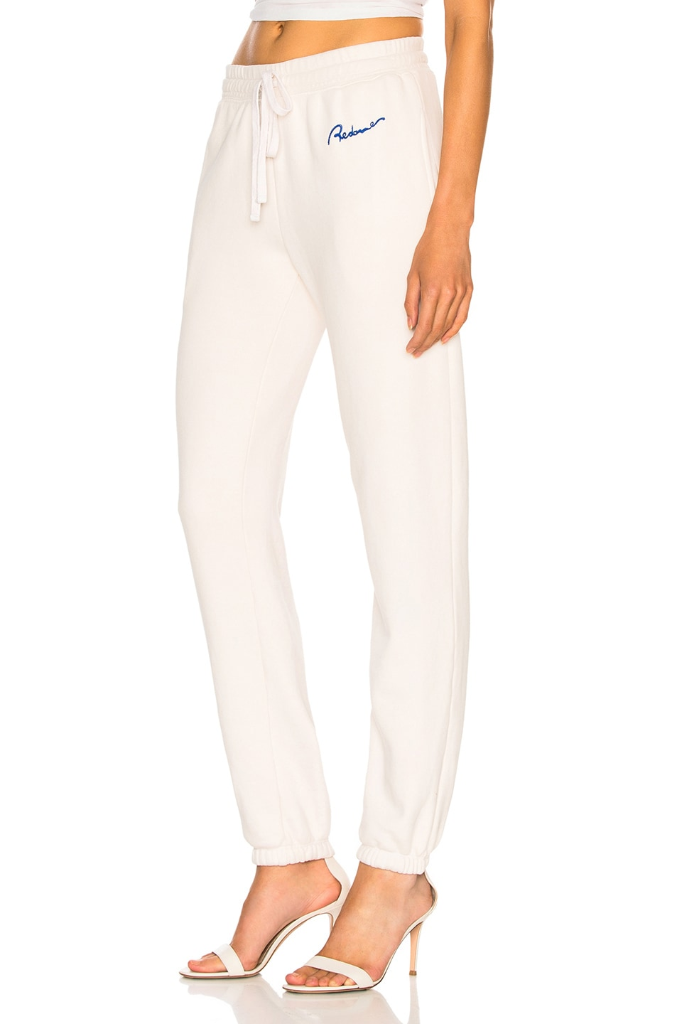Image 3 of RE/DONE Chain Stitch Sweatpants in Vintage White