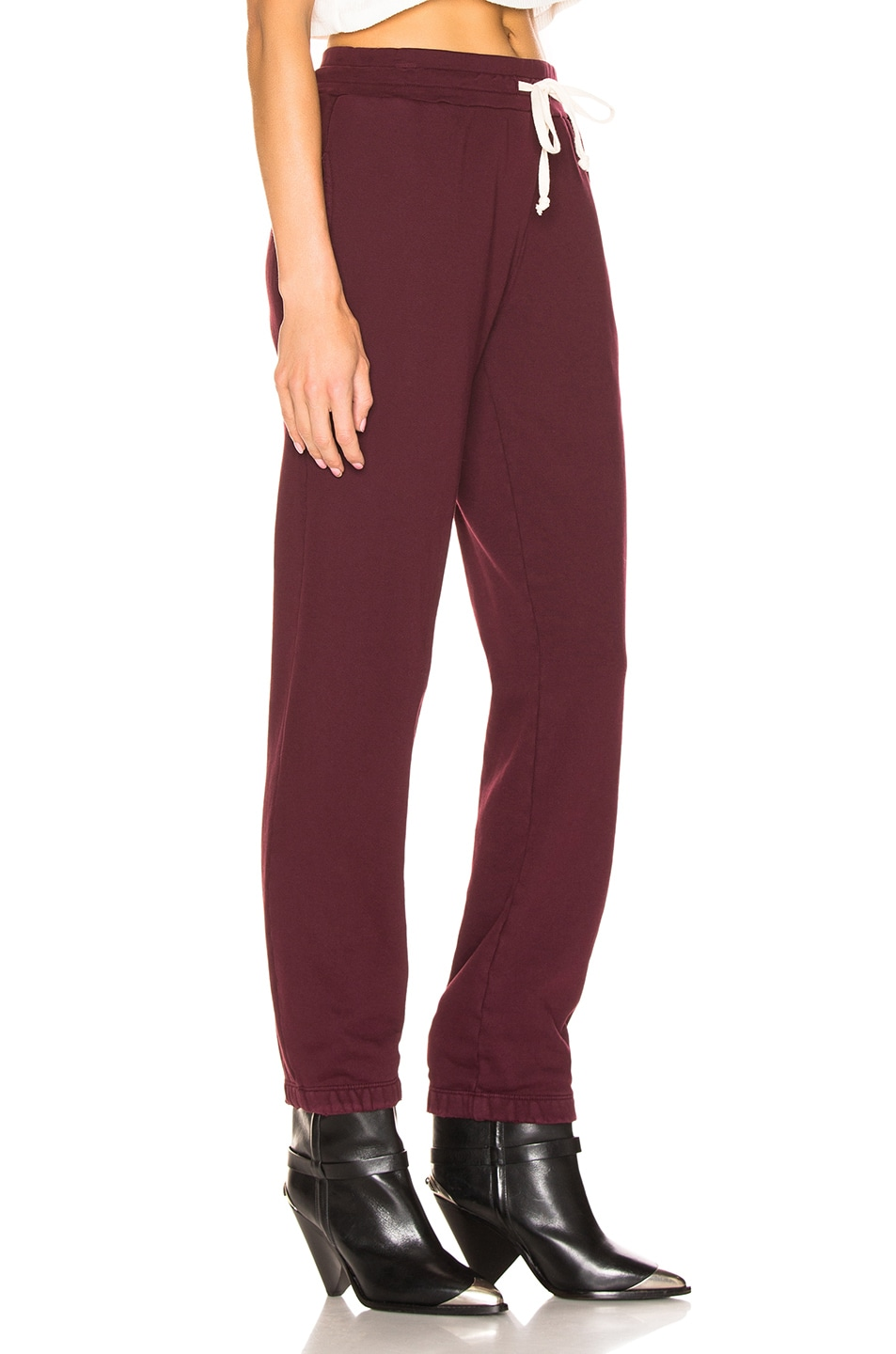 Image 2 of RE/DONE Sweatpant With Embroidery in Burgundy