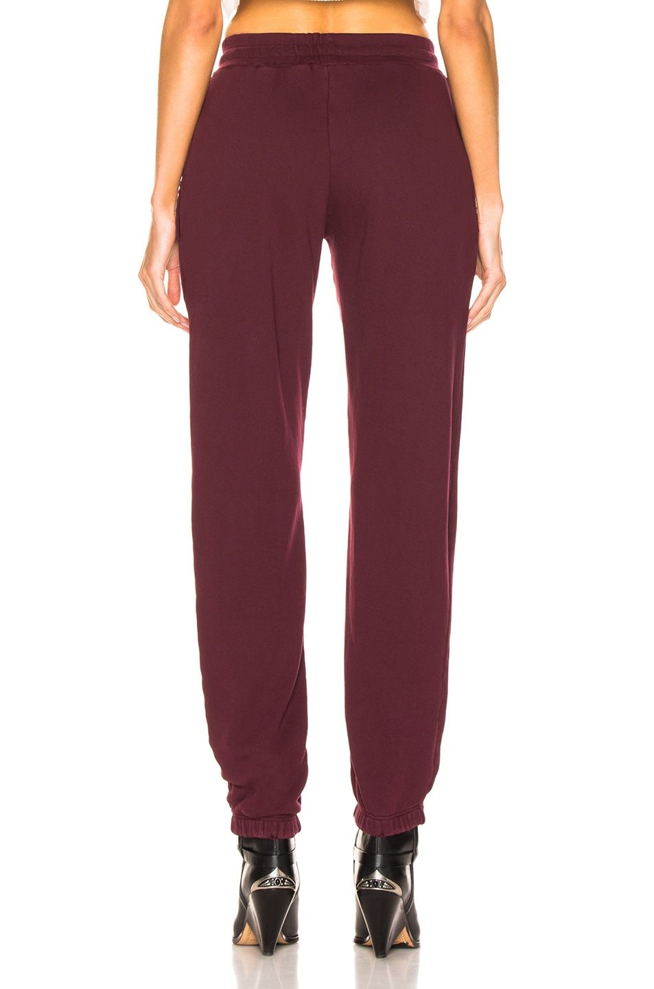 Image 3 of RE/DONE Sweatpant With Embroidery in Burgundy