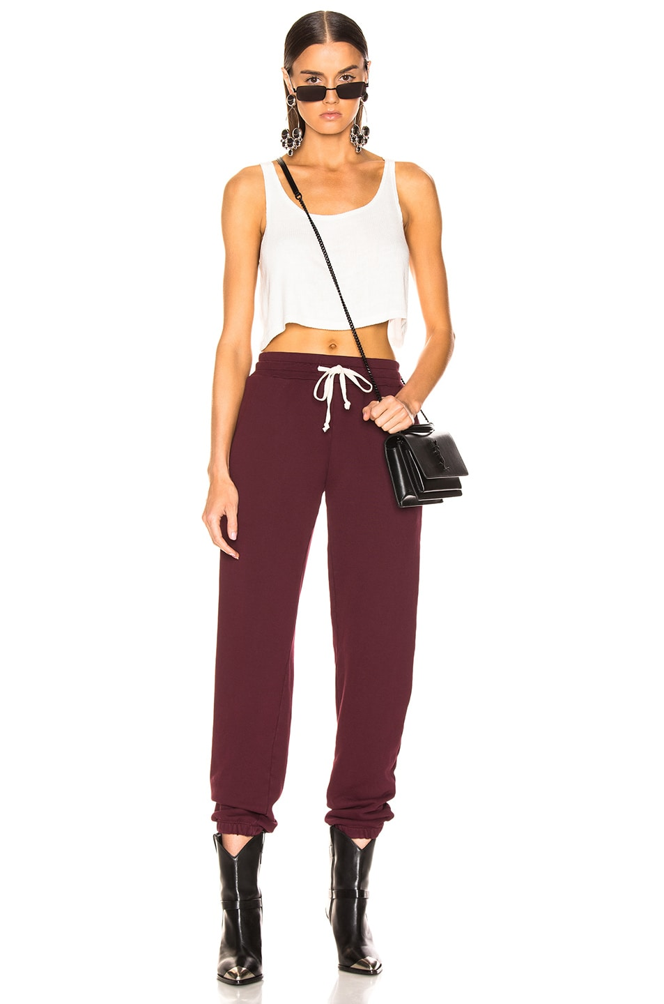 Image 4 of RE/DONE Sweatpant With Embroidery in Burgundy