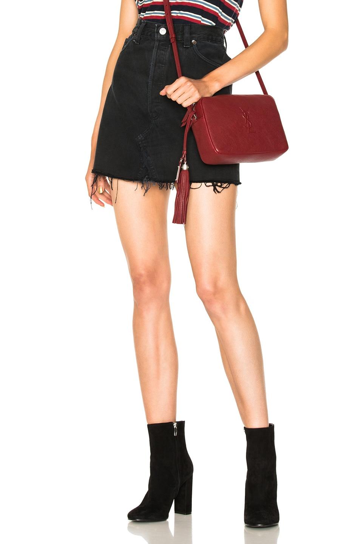 Image 1 of RE/DONE Highwaisted Mini Skirt in Black