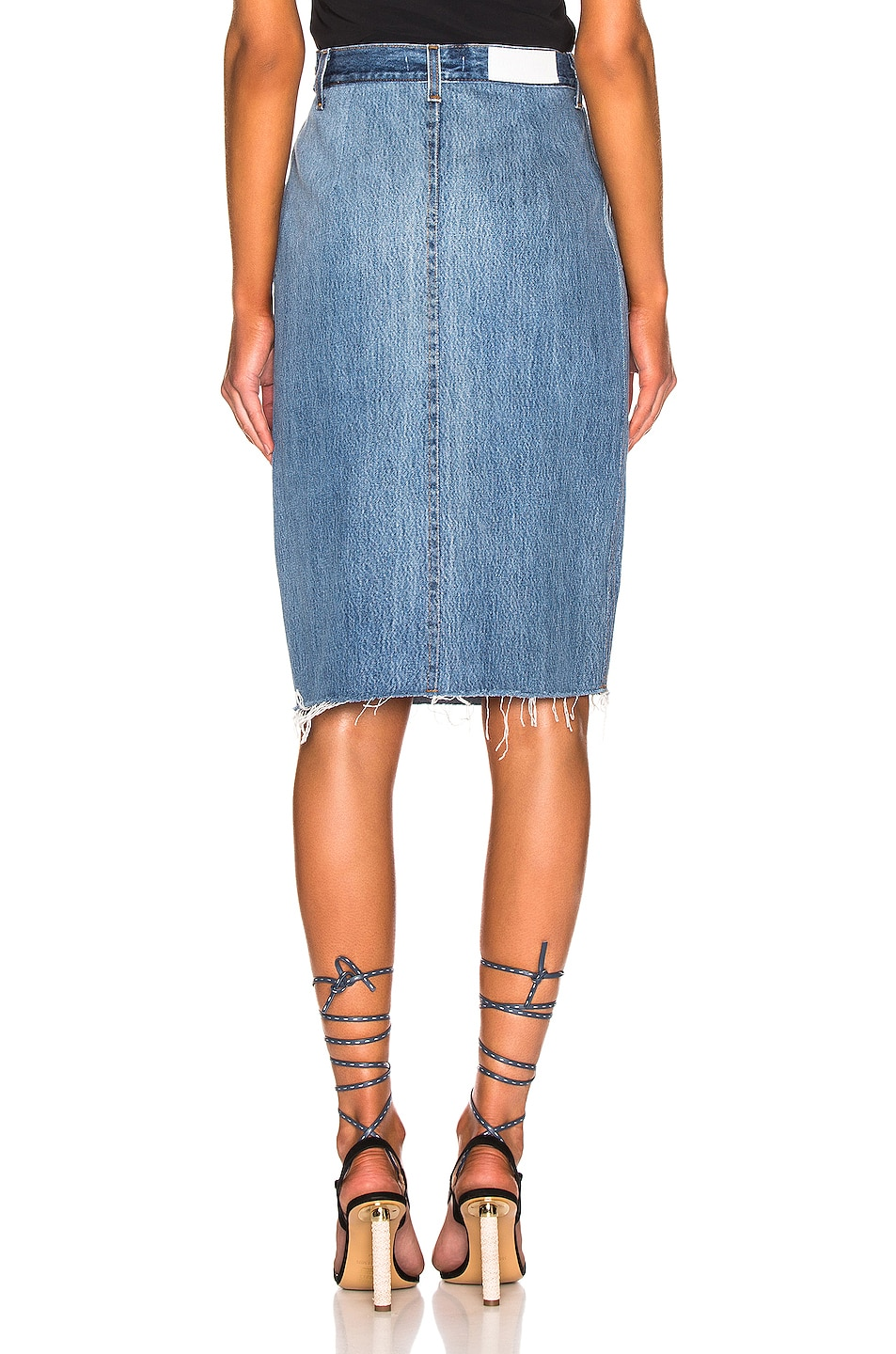 Image 3 of RE/DONE Levis Long Skirt in Indigo