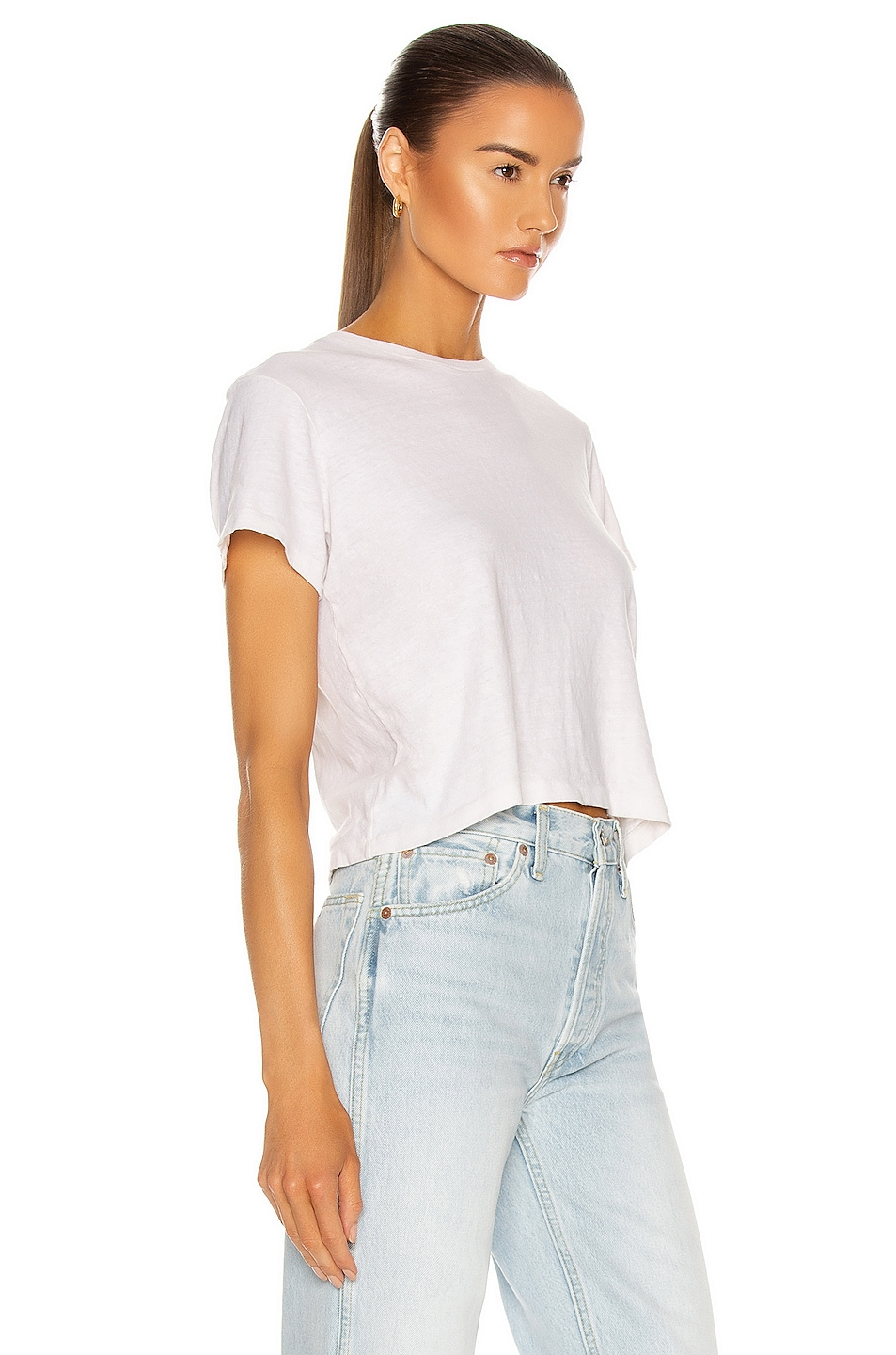Image 2 of RE/DONE 1950s Boxy Tee in Vintage White