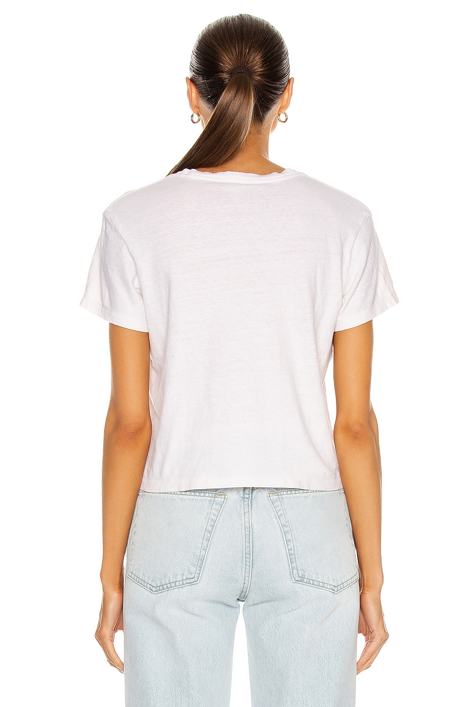 Image 3 of RE/DONE 1950s Boxy Tee in Vintage White