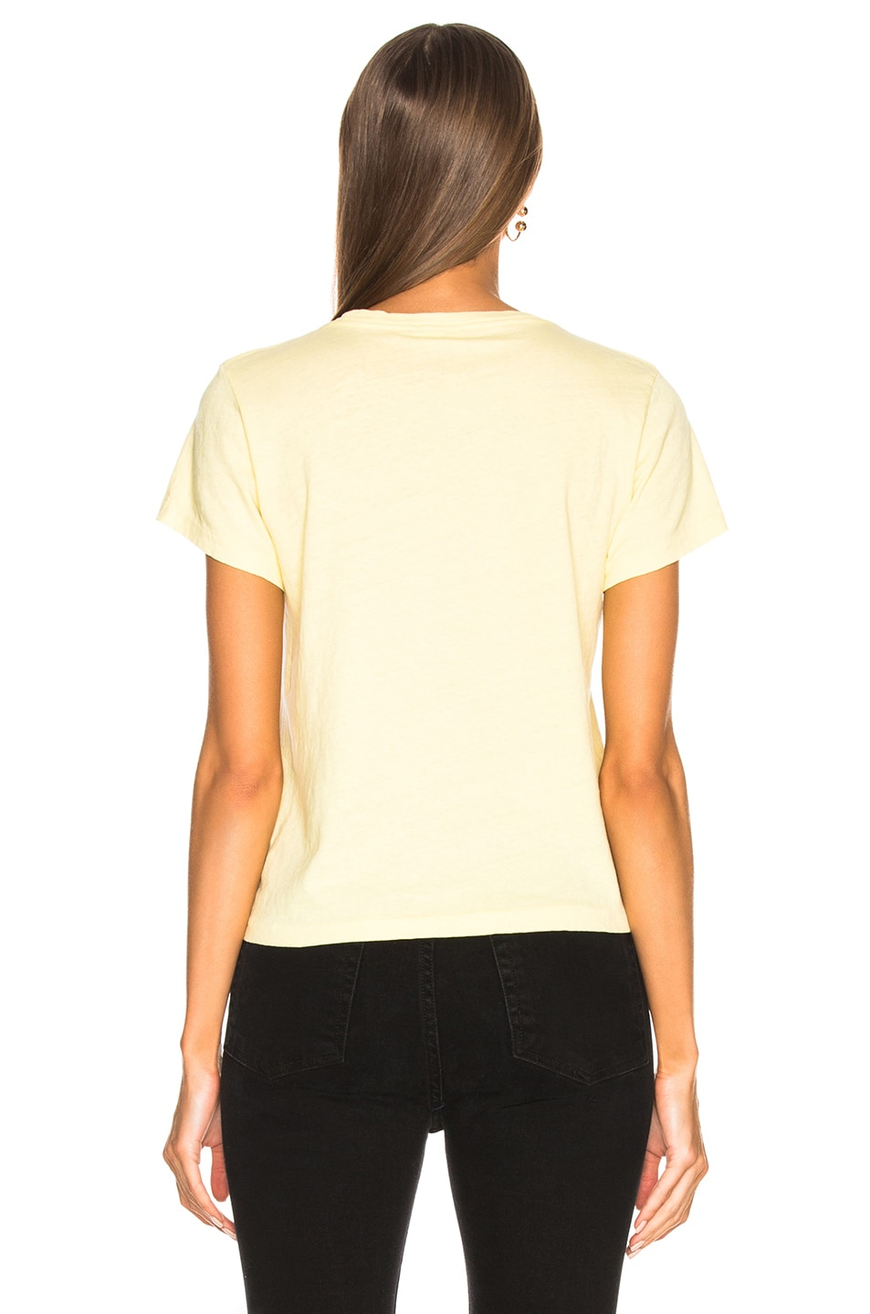 Image 3 of RE/DONE ORIGINALS Classic Neon Logo Tee in Sunfaded Yellow