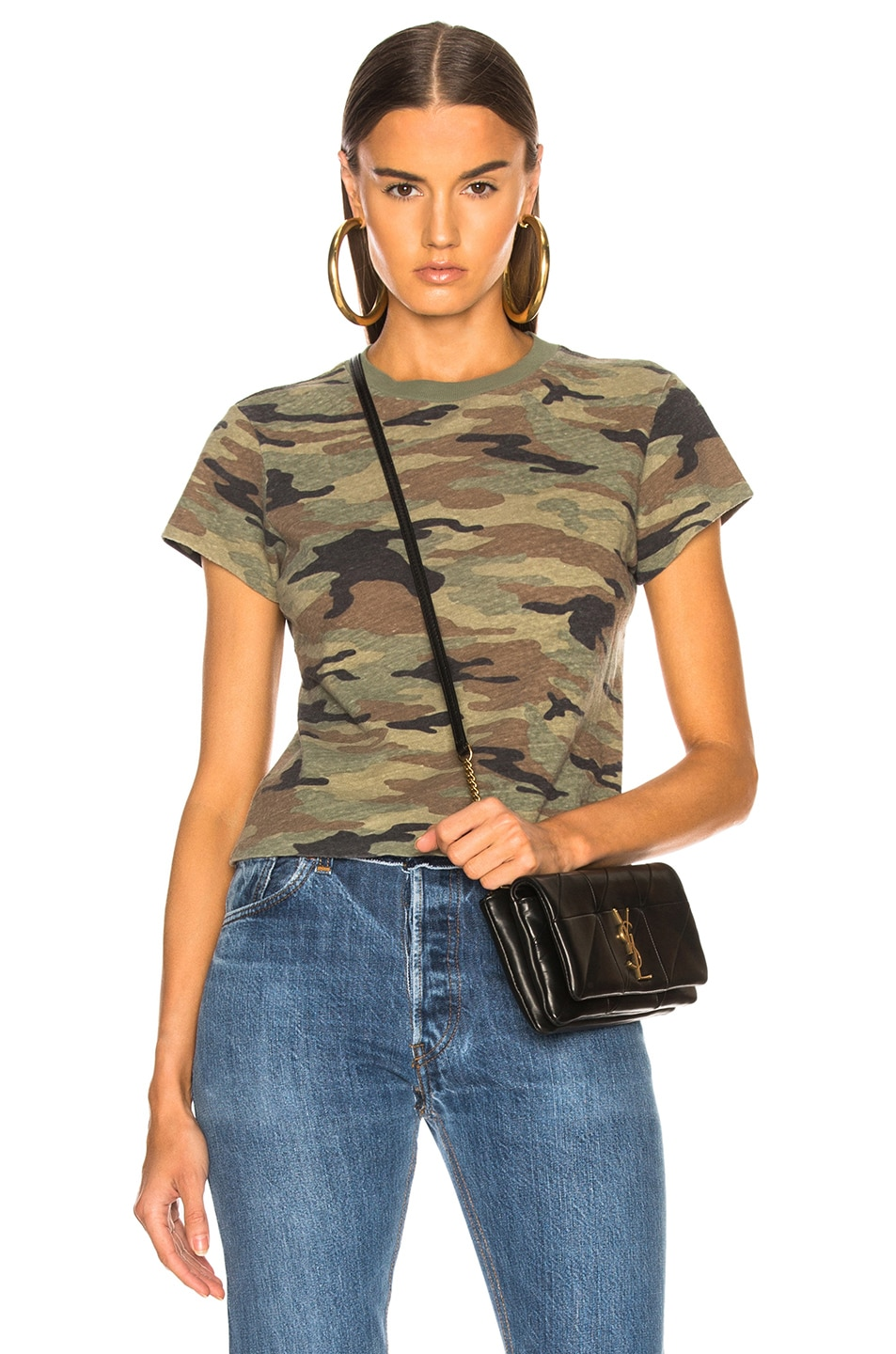 Image 1 of RE/DONE Slim Tee in Camouflage