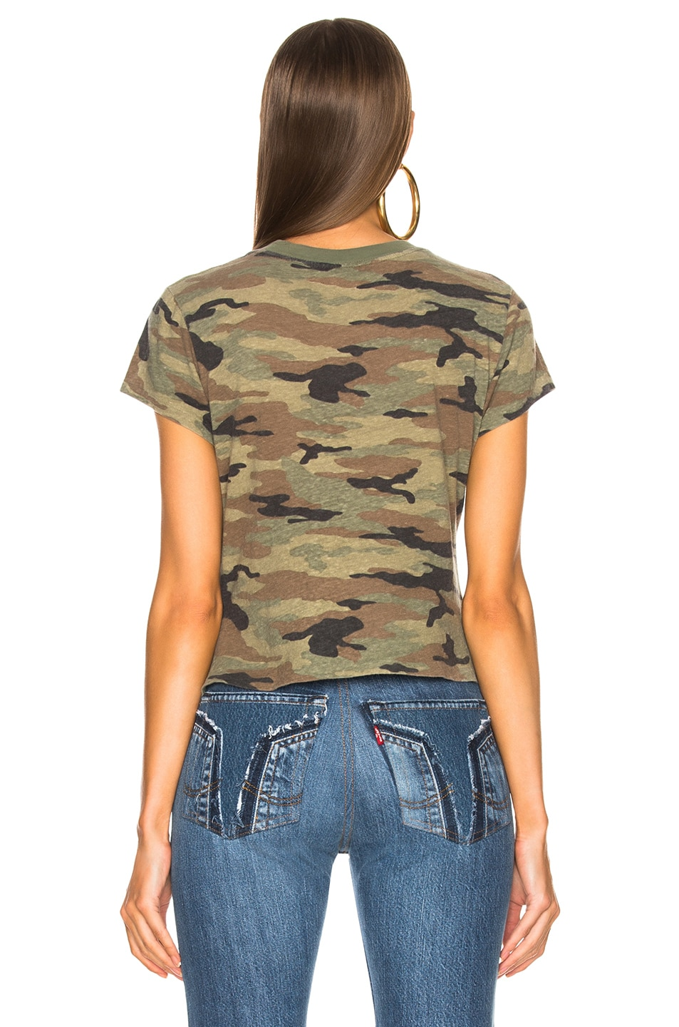 Image 3 of RE/DONE Slim Tee in Camouflage