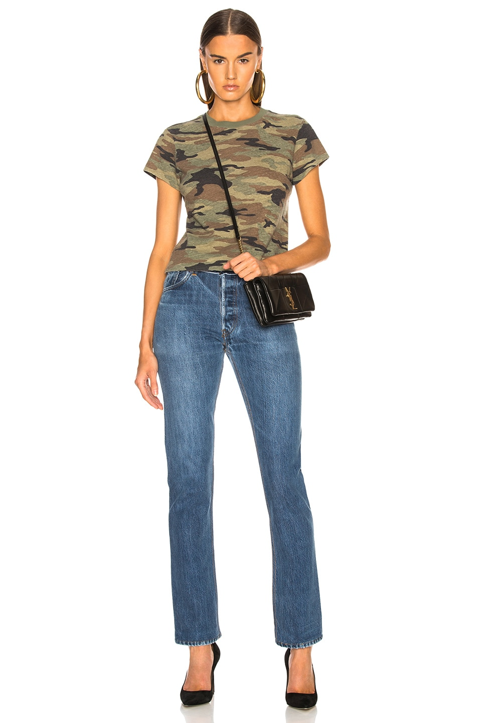 Image 4 of RE/DONE Slim Tee in Camouflage