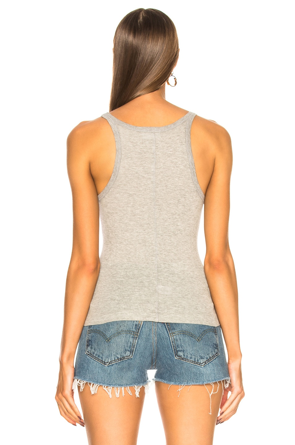 Image 3 of RE/DONE Ribbed Tank in Grey
