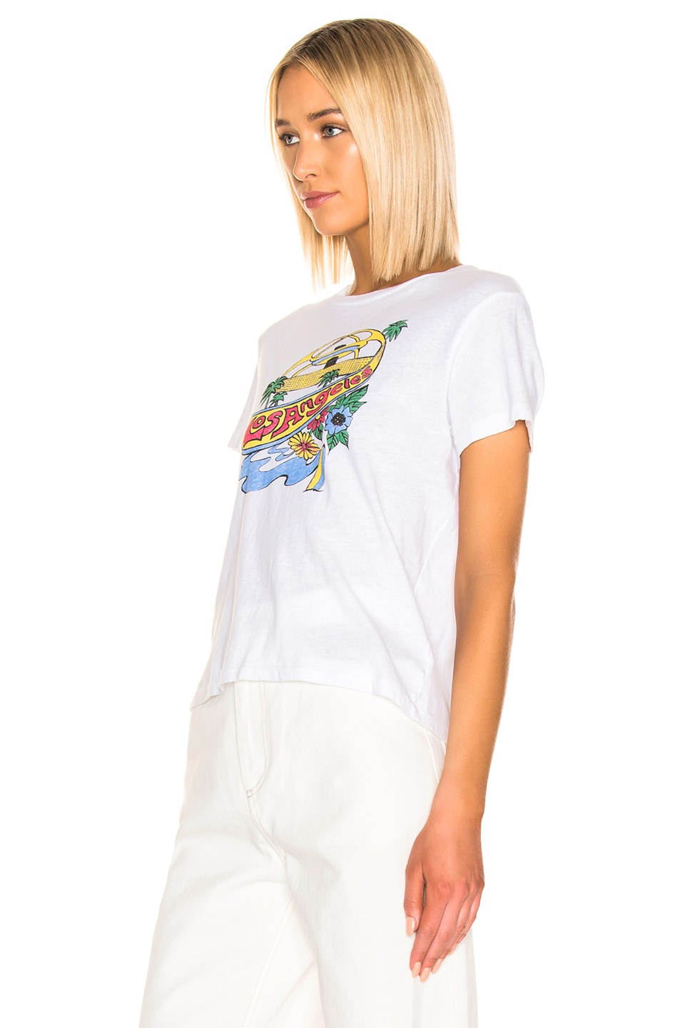 Image 2 of RE/DONE Classic LAX Tee in Optic White