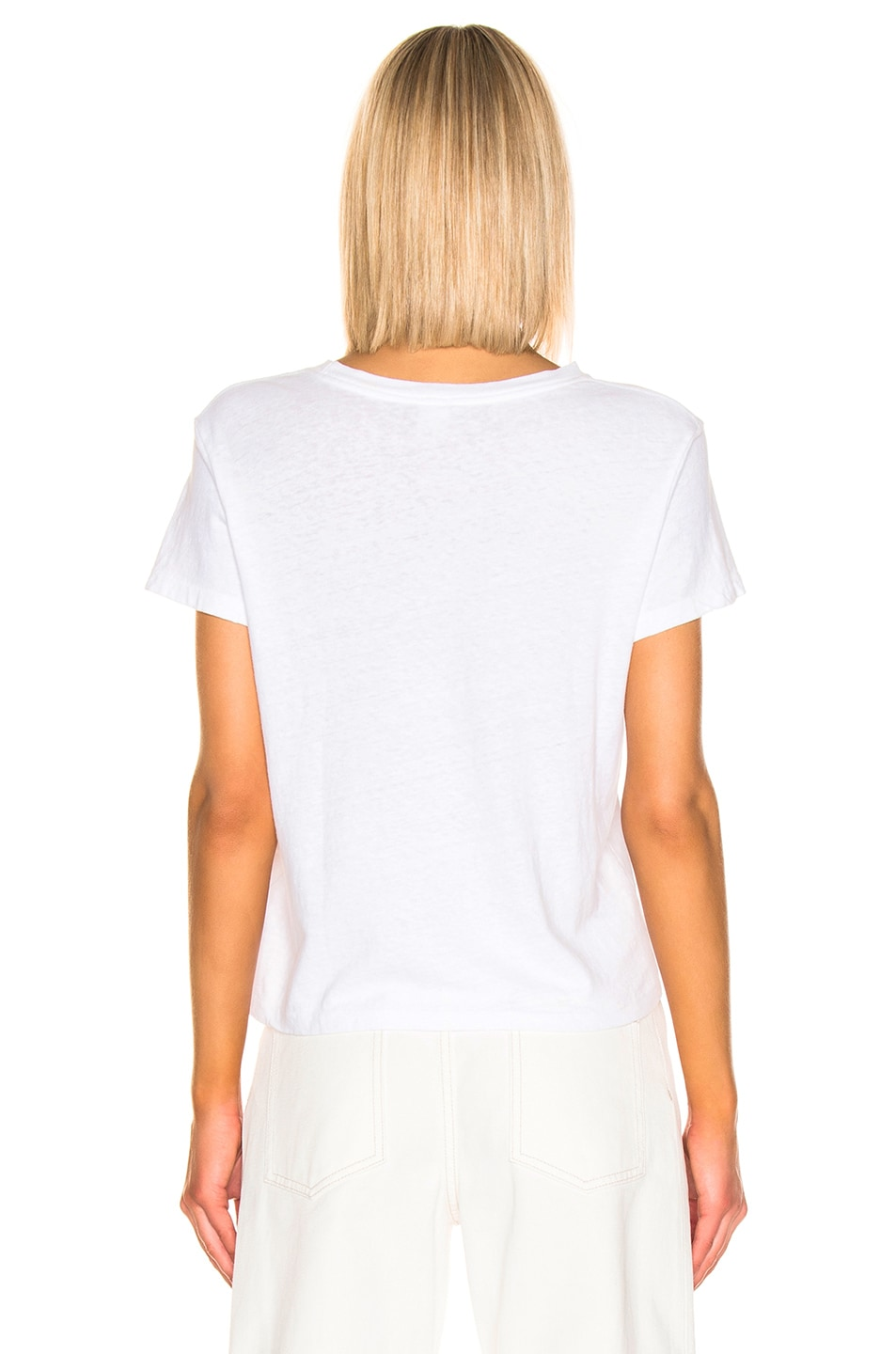 Image 3 of RE/DONE Classic LAX Tee in Optic White