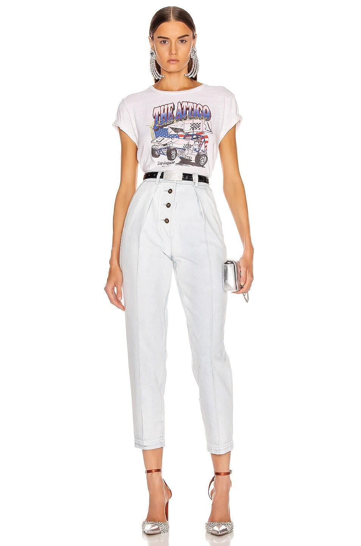 Image 4 of RE/DONE x Attico Boxy Tee 'The Attico' in Vintage White