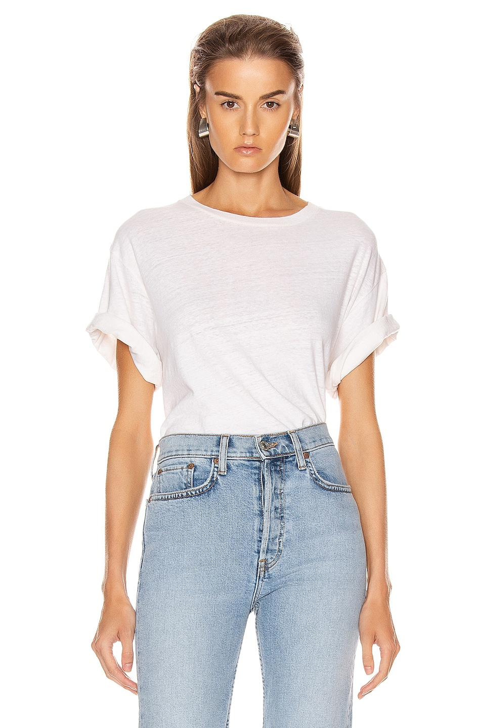 Image 1 of RE/DONE 80's Oversized Tee in Vintage White