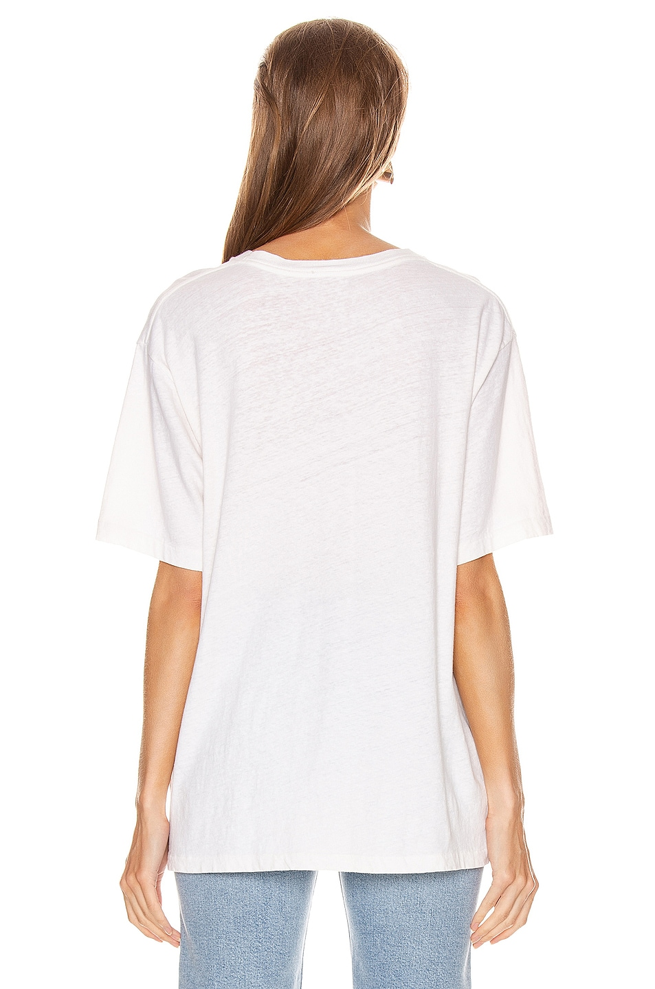 Image 3 of RE/DONE 80's Oversized Tee in Vintage White