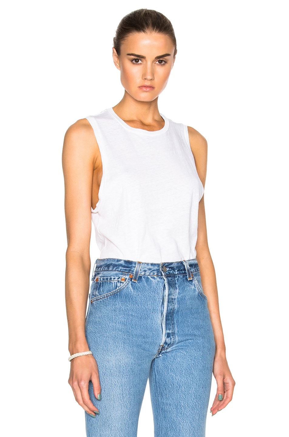 Image 1 of RE/DONE Muscle Tee in Vintage White