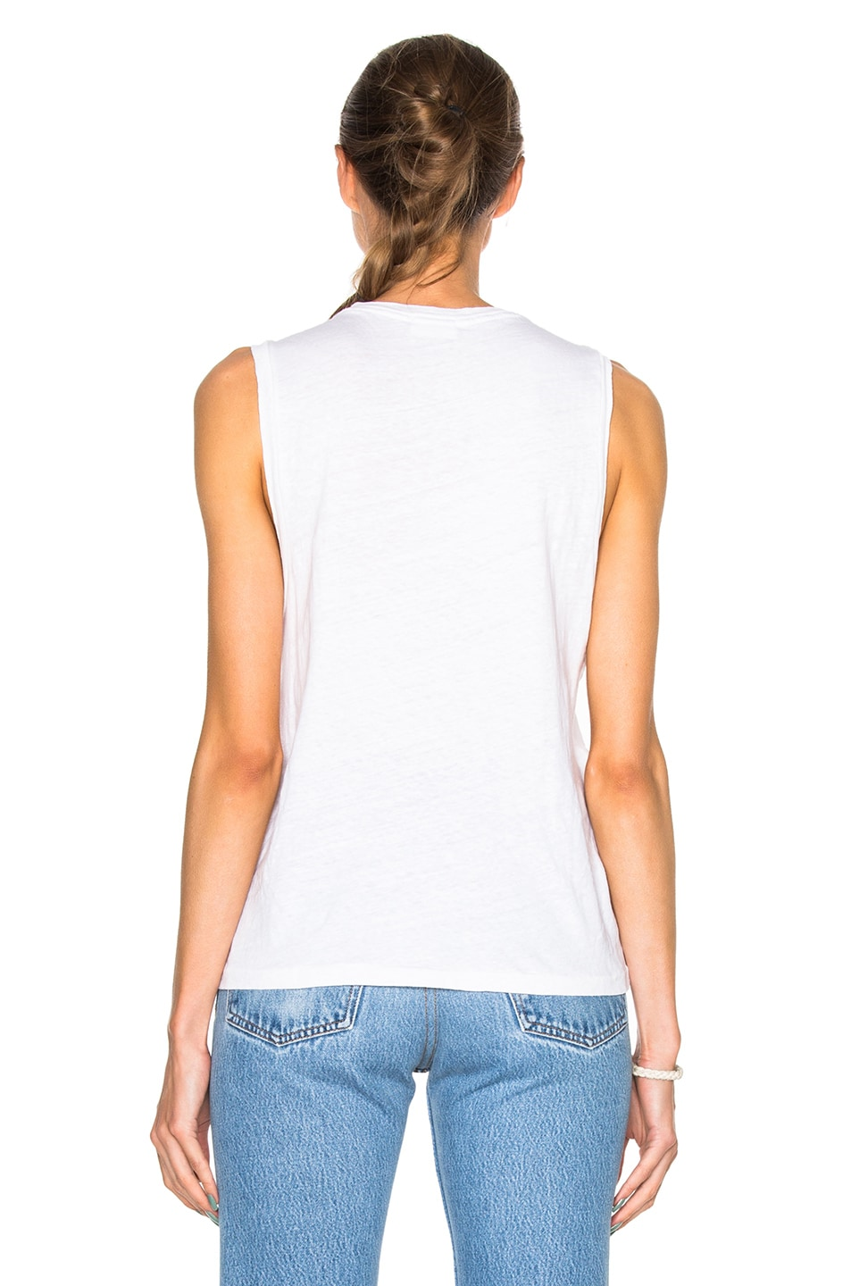 Image 4 of RE/DONE Muscle Tee in Vintage White
