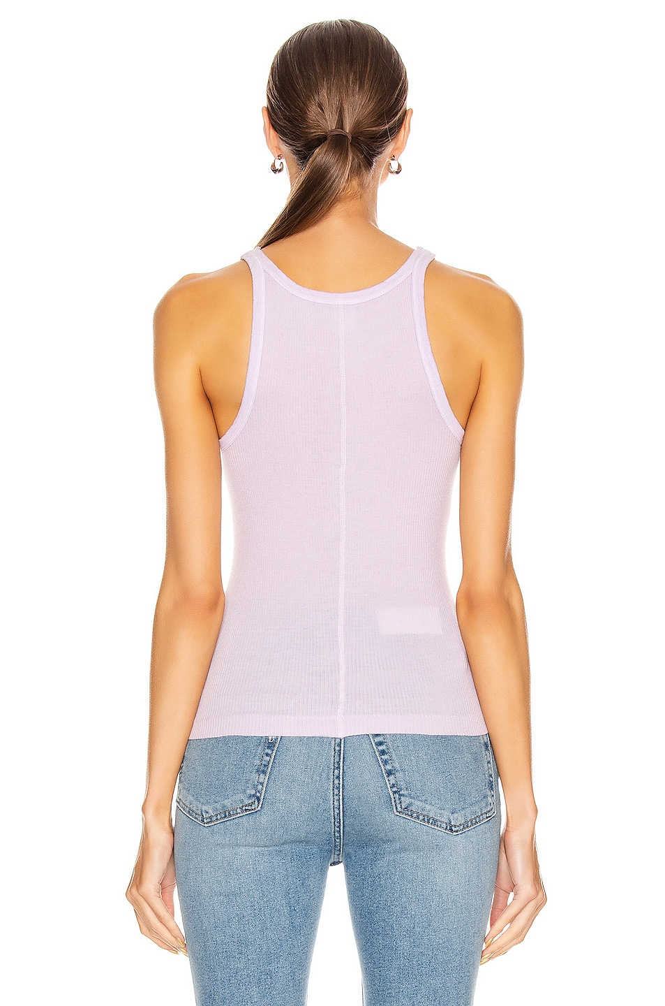 Image 3 of RE/DONE Ribbed Tank in Lilac