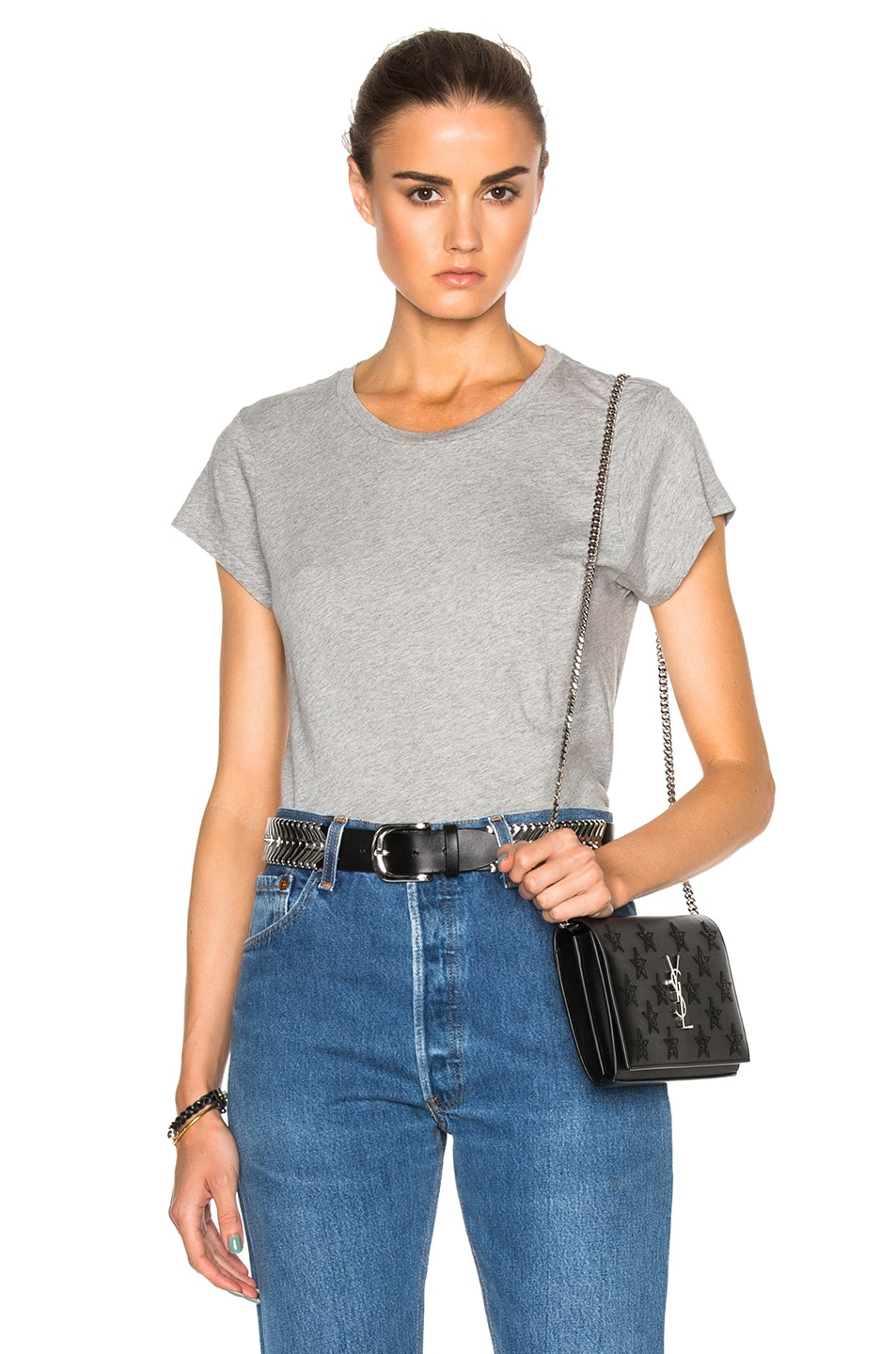 Image 1 of RE/DONE Boxy Tee in Heather