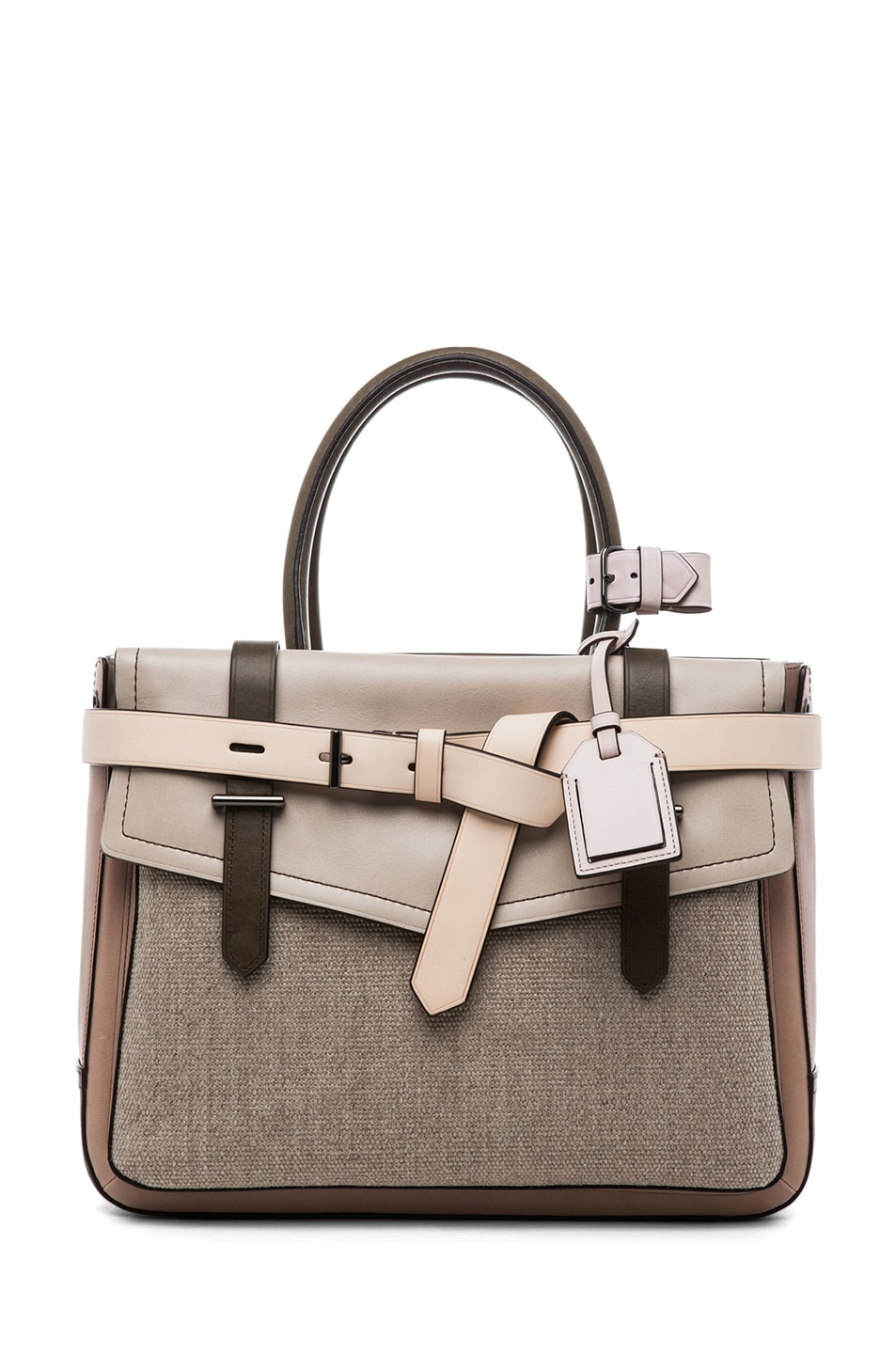 Image 1 of Reed Krakoff Boxer in Taupe Multi