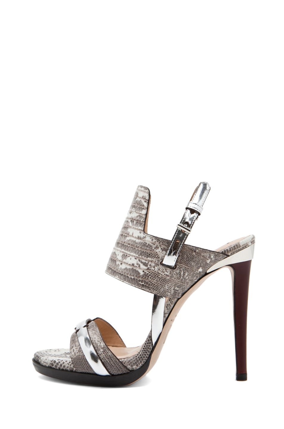 Image 1 of Reed Krakoff Heel in Black Multi/Silver/Cordovan
