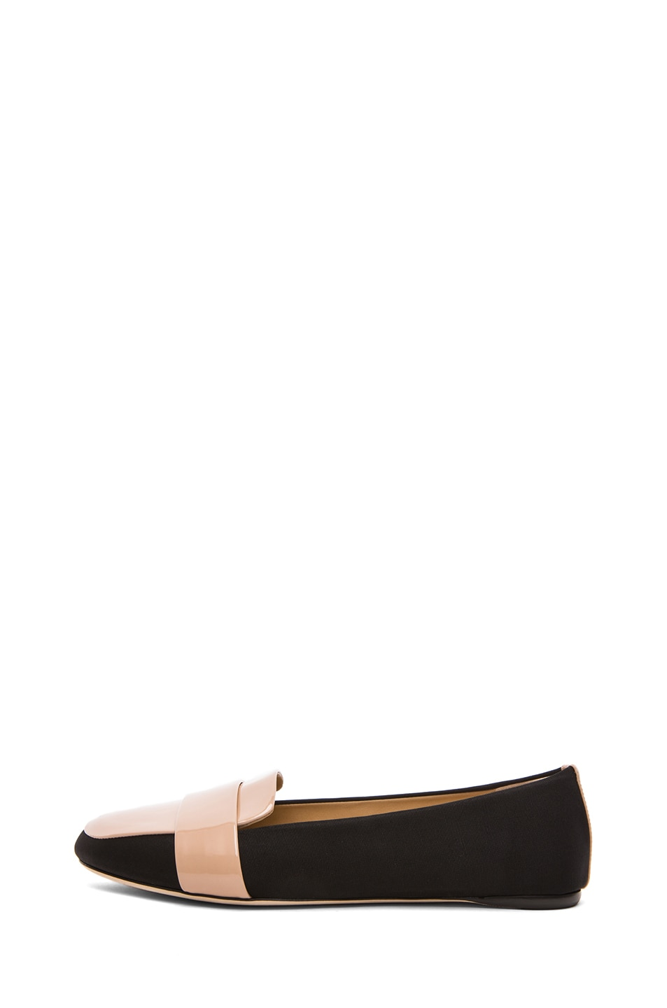 Image 1 of Reed Krakoff Patent Loafers in Black & Nude