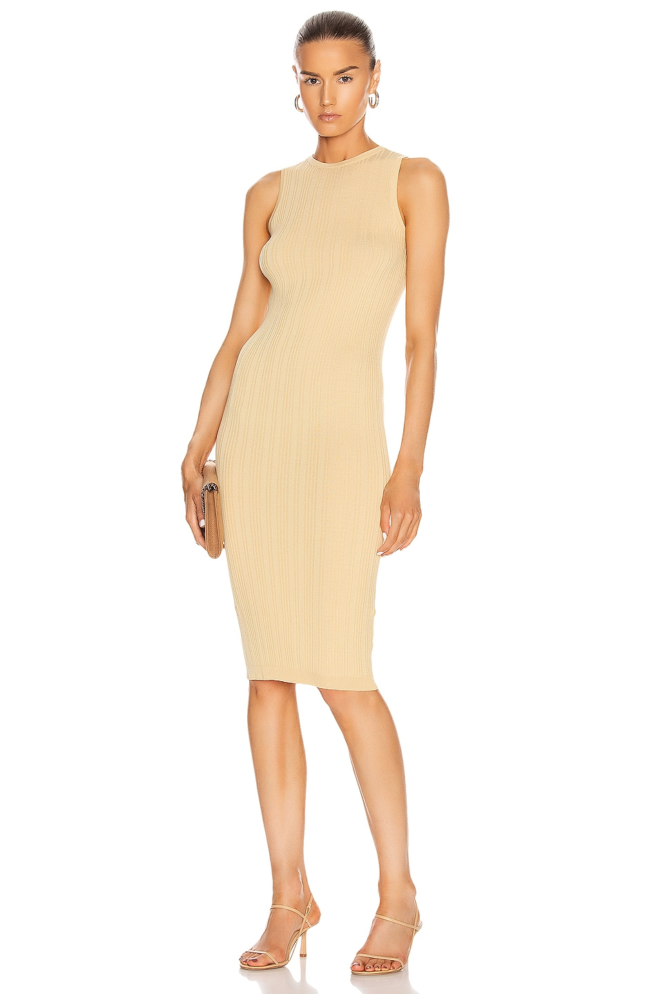 Image 1 of REMAIN Gere Sleeveless Knit Dress in Italian Straw