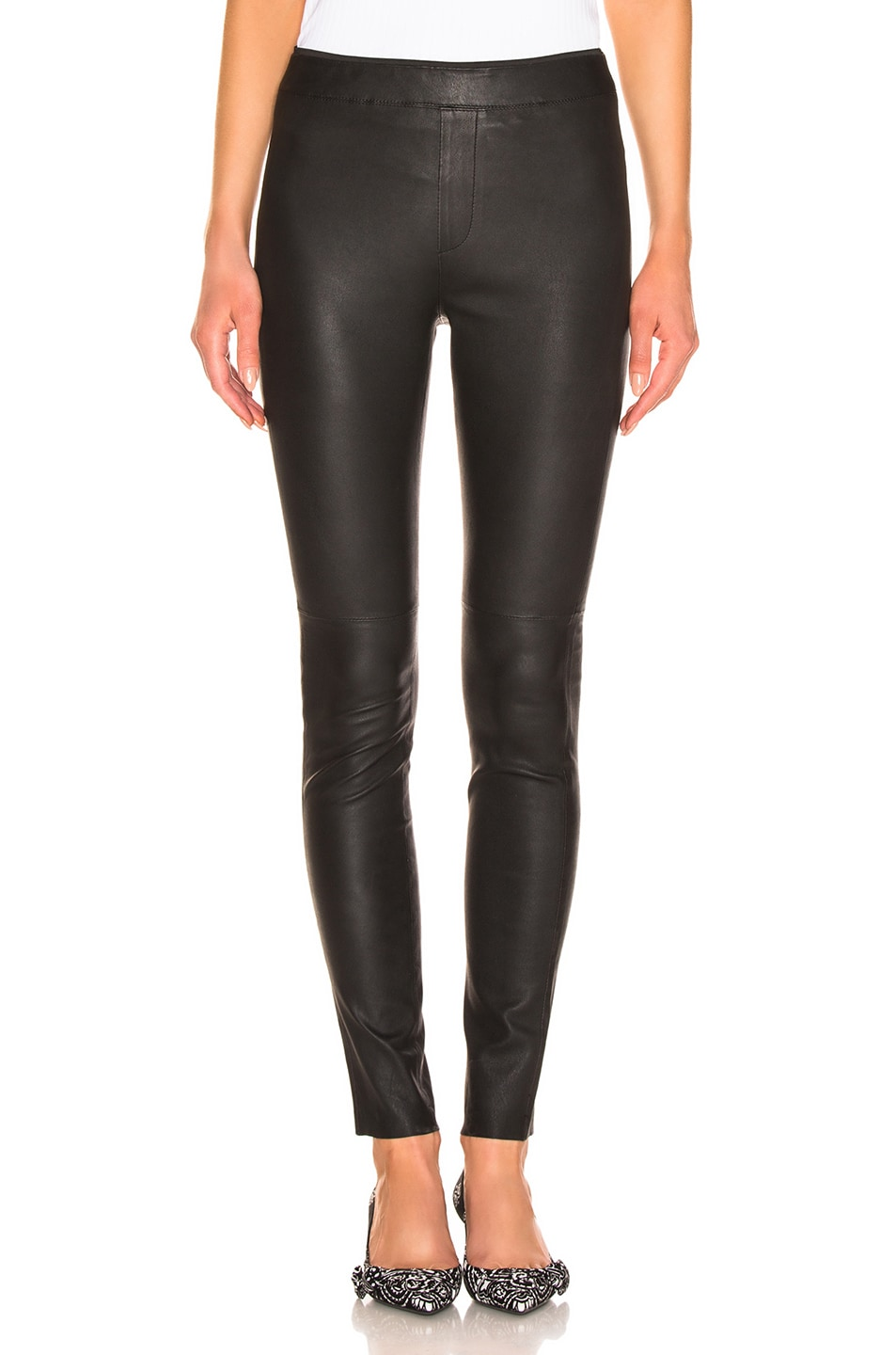 Image 1 of REMAIN Snipe Leather Legging in Black