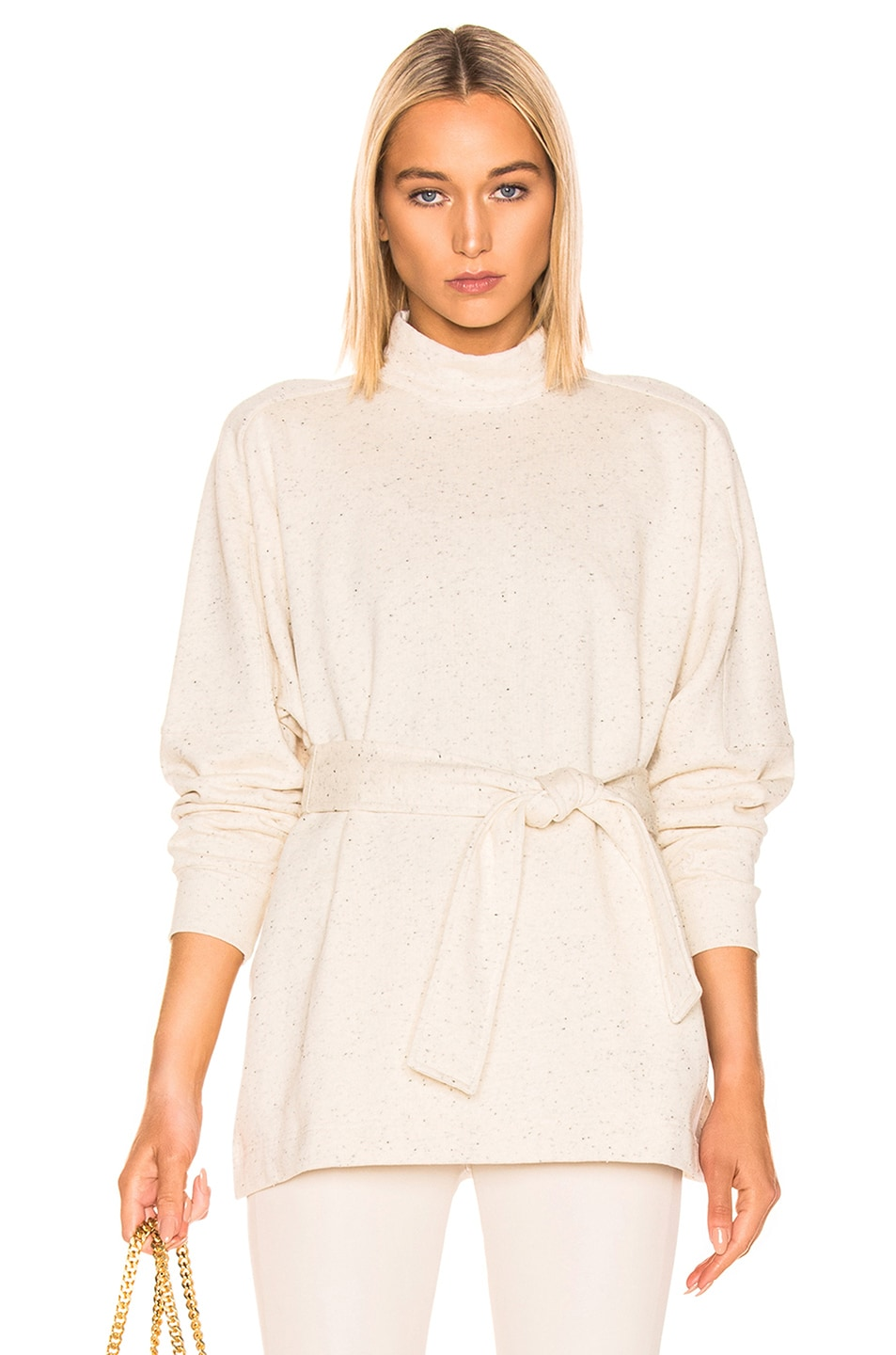 Image 1 of REMAIN Amo Long Sleeve High Neck Top in Cream