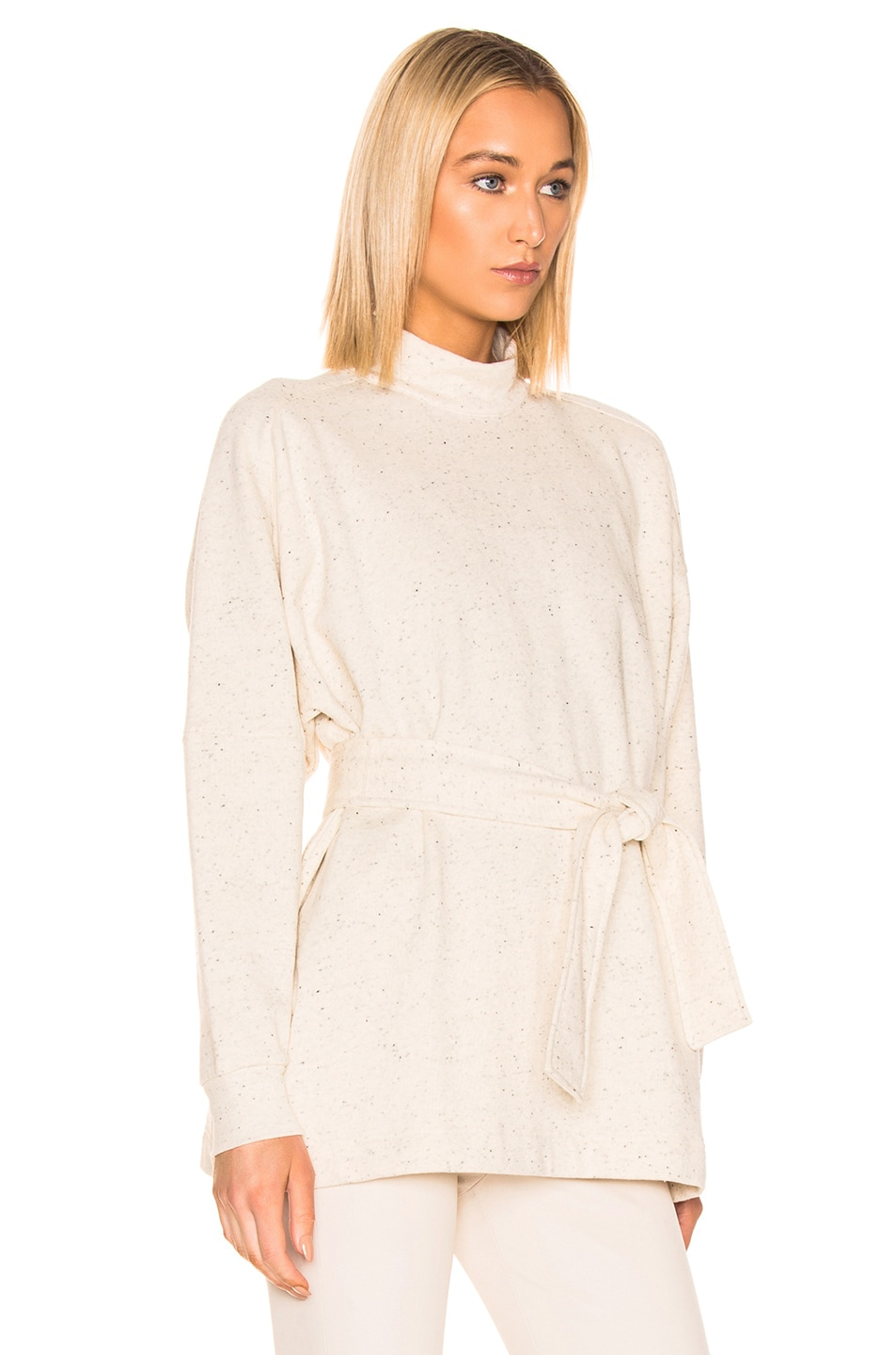 Image 2 of REMAIN Amo Long Sleeve High Neck Top in Cream