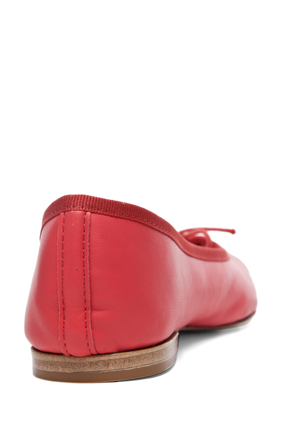 Image 3 of Repetto Lambskin Flat in Coral