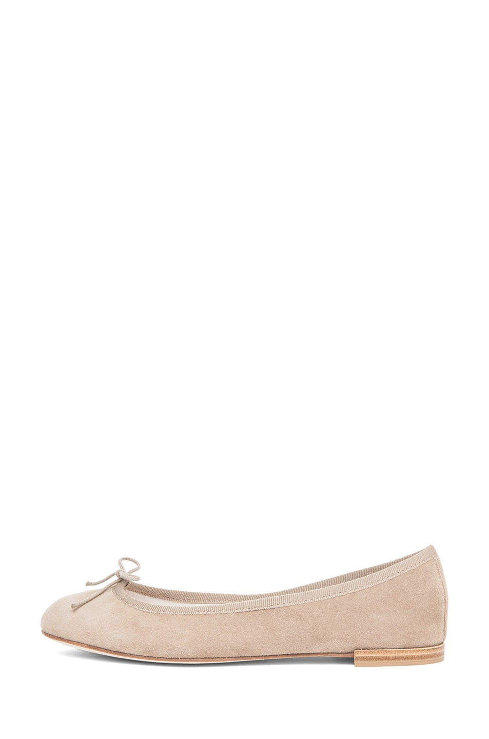 Image 1 of Repetto Goatskin Suede Flat in Taupe