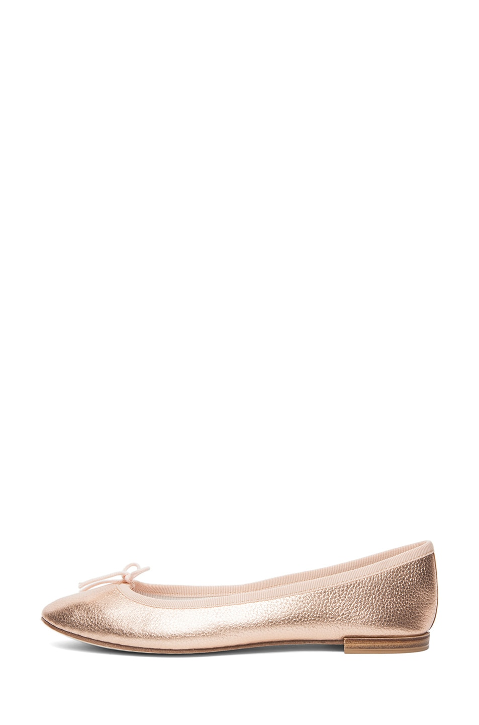 Image 1 of Repetto Distressed Goatskin Flat in Rose Gold