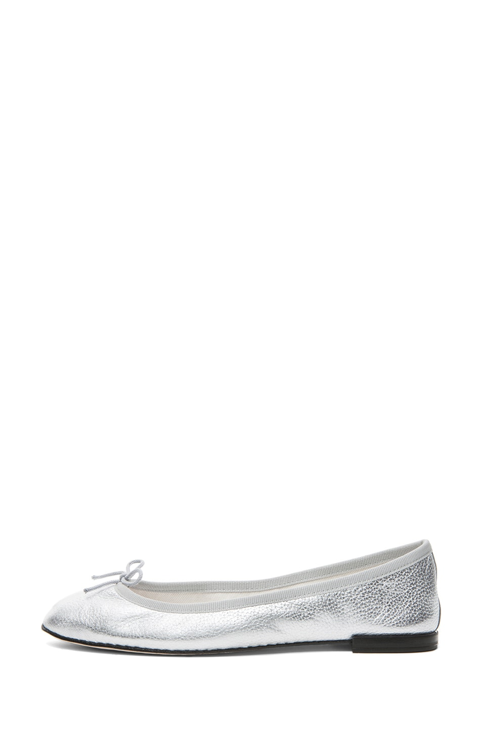 Image 1 of Repetto Distressed Goatskin Flat in Silver