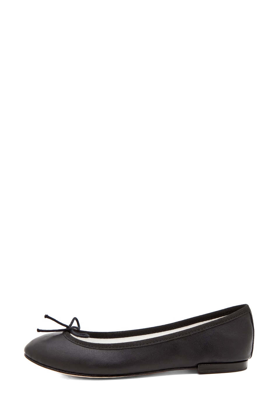 Image 1 of Repetto Calfskin Leather Flats in Black