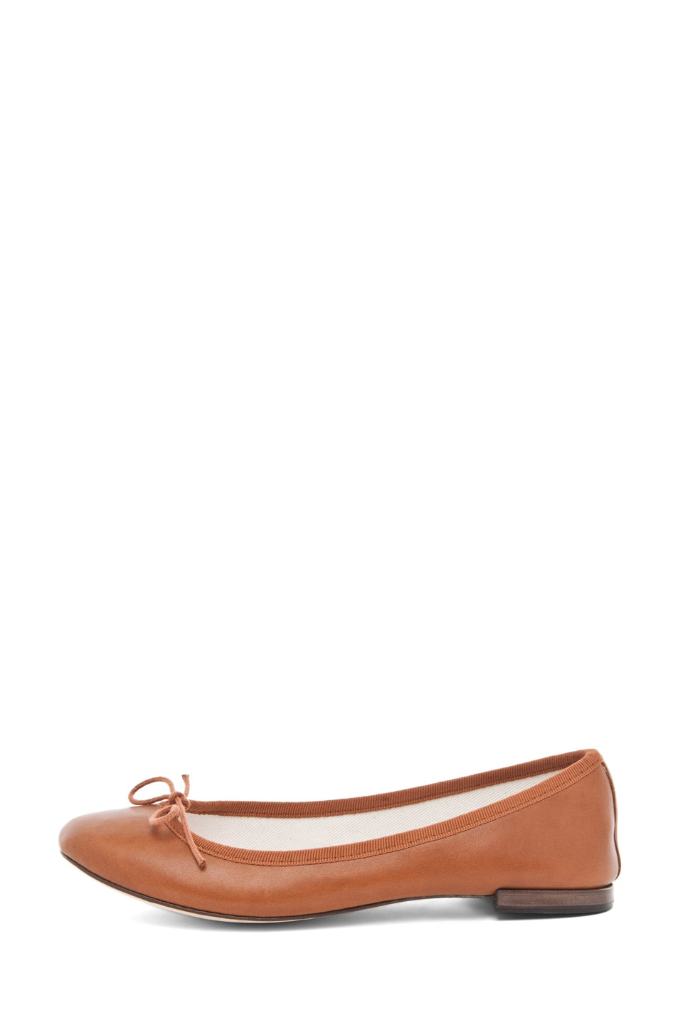 Image 1 of Repetto Leather Flat in Cognac